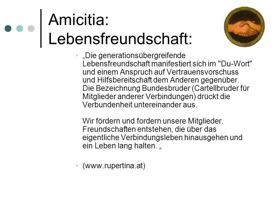 Amicitia: Lebensfreundschaft: Die generationsübergreifende Lebensfreundschaft manifestiert sich im