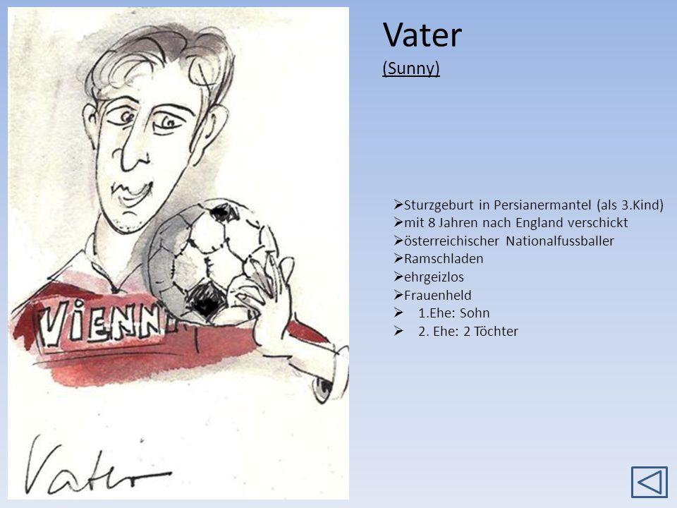 Vater (Sunny) Sturzgeburt in Persianermantel (als 3.Kind) mit 8 Jahren nach England verschickt österreichischer Nationalfussballer Ramschladen ehrgeiz