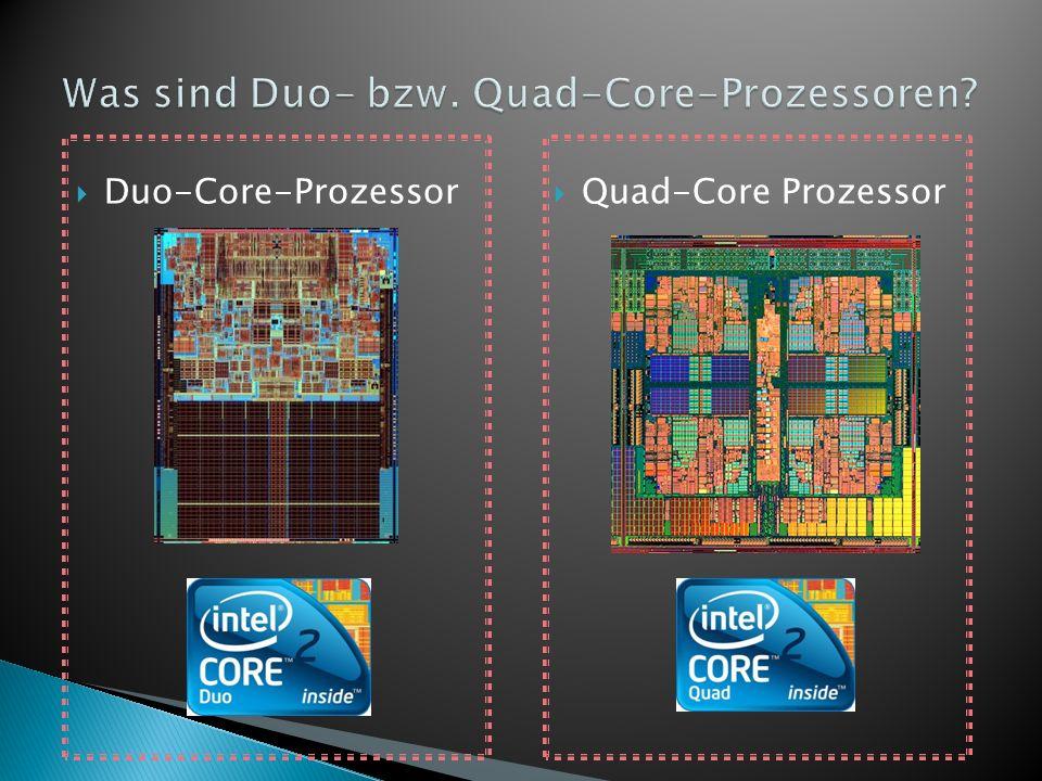 Leistungssteigerungen sind mit bloßer Taktfrequenzssteigerung nicht mehr realisierbar Die Multikern-Prozessor-Technologie bietet den Vorteil von weniger Wärmeentwicklung bei niedrigerem Stromverbrauch Mehrere Befehle können gleichzeitig abgearbeitet werden in einem realen Mehrkernprozessor im Gegensatz zum Hyper-Threading Es stehen mehrere Prozessoren zur Verfügung