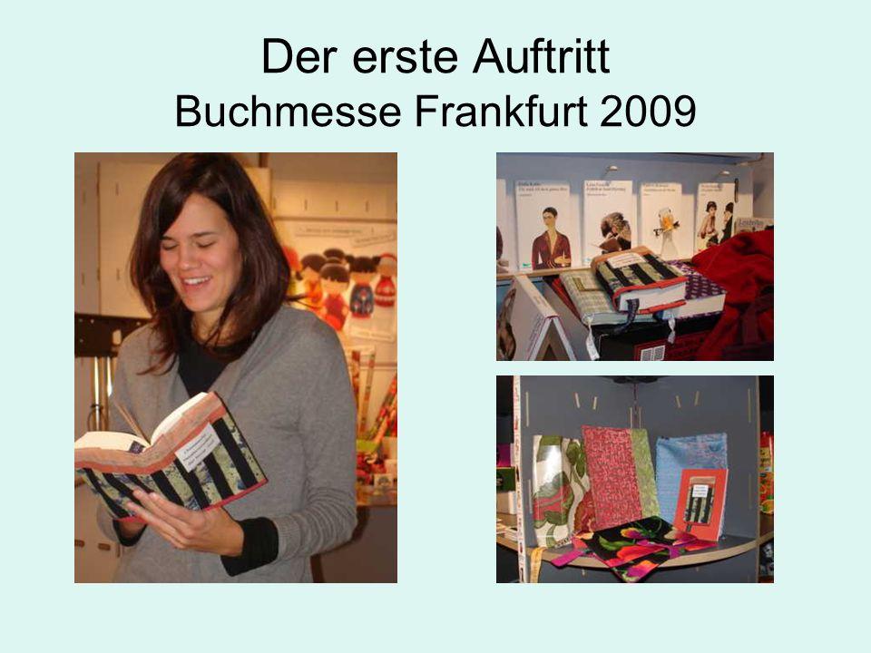 Der erste Auftritt Buchmesse Frankfurt 2009