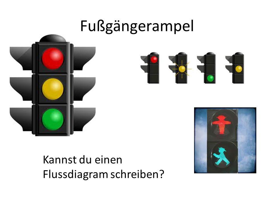 Fußgängerampel Kannst du einen Flussdiagram schreiben?