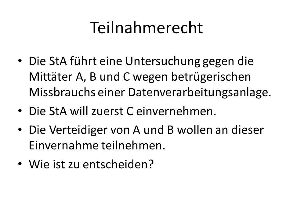 Beschwerdekammer OGer Bern Dass die Einvernahme unter Ausschluss der andern Einzuvernehmenden durchzuführen wäre, ergibt sich darüber hinaus weder aus der Botschaft noch aus dem Wortlaut des Art.