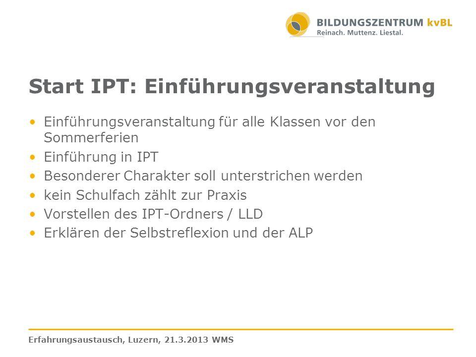 Muster für einen Raster mit verschiedenen Teilaufgaben in einem Formular Erfahrungsaustausch, Luzern, 21.3.2013 WMS