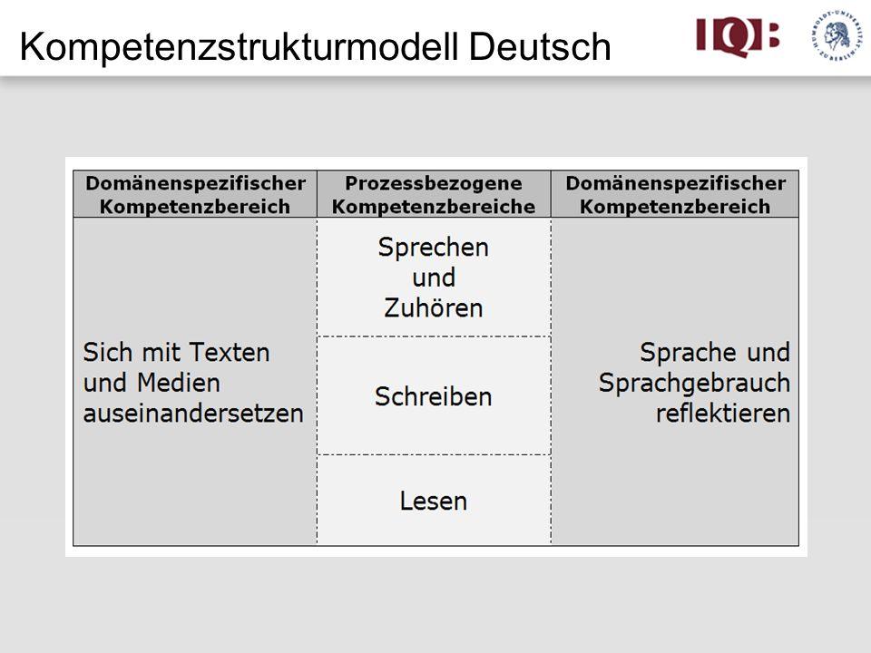 Kompetenzstrukturmodell Deutsch