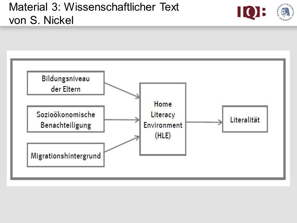 Material 3: Wissenschaftlicher Text von S. Nickel