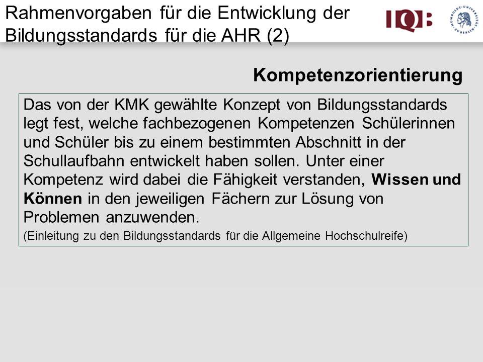 Beispiele für das Fach Deutsch a) Bildungsstandards