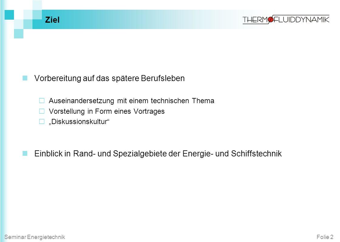 Folie 13Seminar Energietechnik Themen -aus dem Institut für Elektrische Energiesysteme und Automation Dr.-Ing.