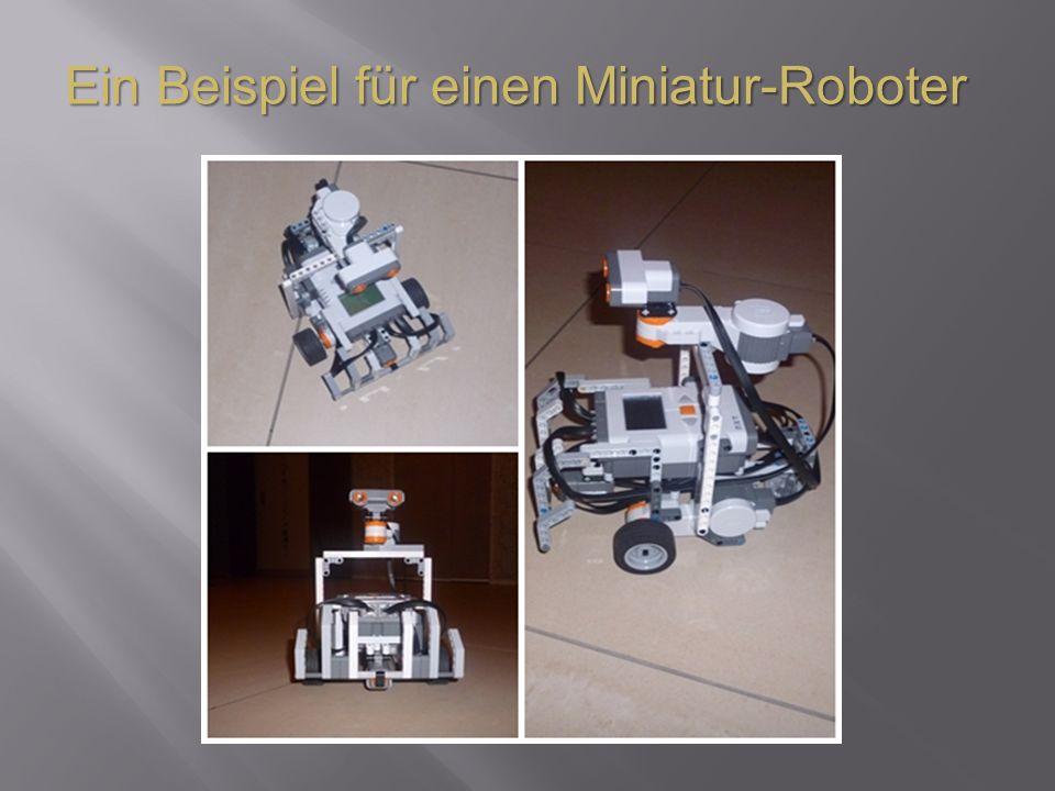 Ein Beispiel für einen Miniatur-Roboter