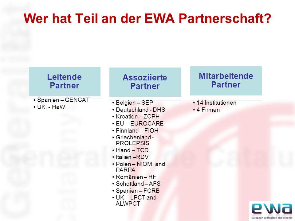 Wer hat Teil an der EWA Partnerschaft.