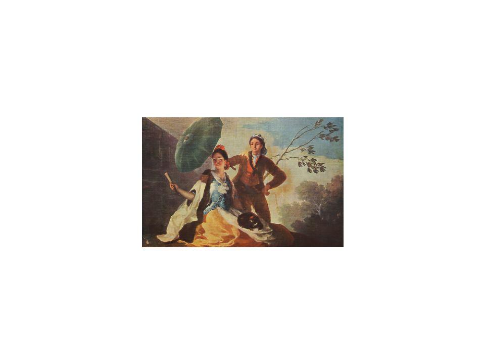 08 Der Sonnenschirm, F. Goya, ca. 1790