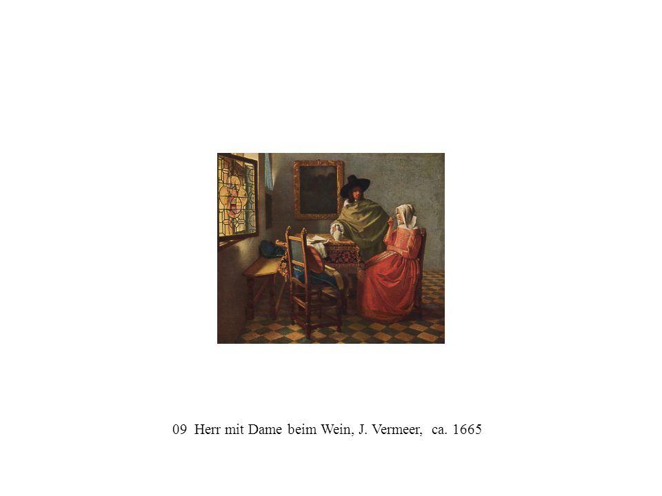 09 Herr mit Dame beim Wein, J. Vermeer, ca. 1665