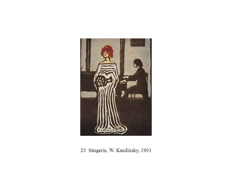 23 Sängerin, W. Kandinsky, 1903