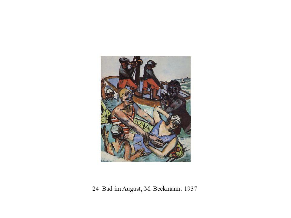24 Bad im August, M. Beckmann, 1937