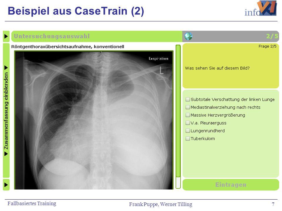 Frank Puppe, Werner Tilling 7 Fallbasiertes Training Beispiel aus CaseTrain (2)