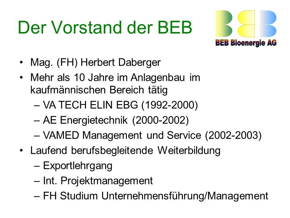 Der Vorstand der BEB Mag.