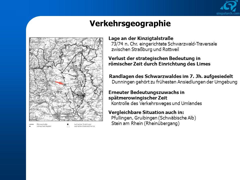 singularch.com Verkehrsgeographie Lage an der Kinzigtalstraße 73/74 n. Chr. eingerichtete Schwarzwald-Traversale zwischen Straßburg und Rottweil Erneu