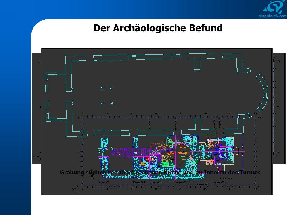 singularch.com Die vorkirchenzeitlichen Gräber Grab 1 Trockengemauerte GrabeinfassungAn Kopf und Fußende unterbrochene Pflasterung der Grabsohle (Unterzüge) Inventar