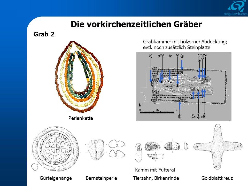 singularch.com Die vorkirchenzeitlichen Gräber Kurzbewertung von Grab 2 Datierung: 610 - 640 n.