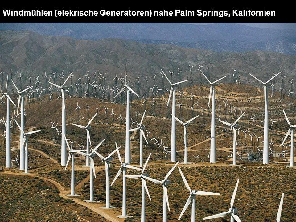 Windmühlen (elekrische Generatoren) nahe Palm Springs, Kalifornien