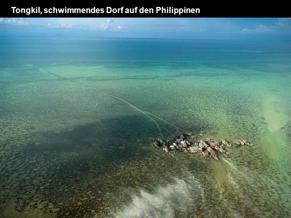 Tongkil, schwimmendes Dorf auf den Philippinen