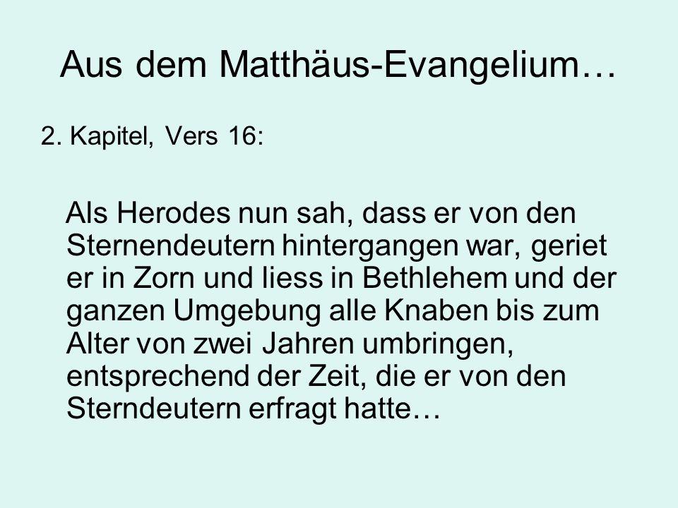 Aus dem Matthäus-Evangelium… 2.