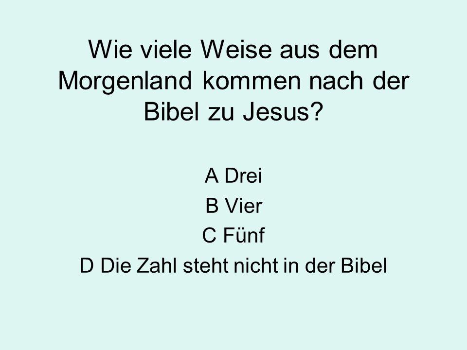 Wie viele Weise aus dem Morgenland kommen nach der Bibel zu Jesus.