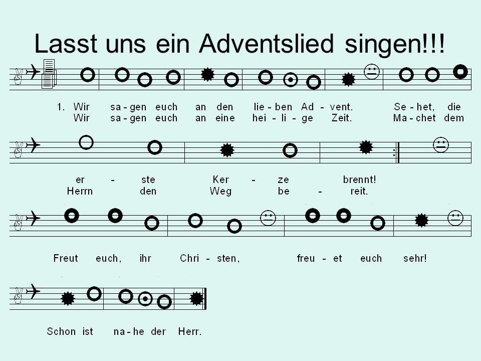 Lasst uns ein Adventslied singen!!!