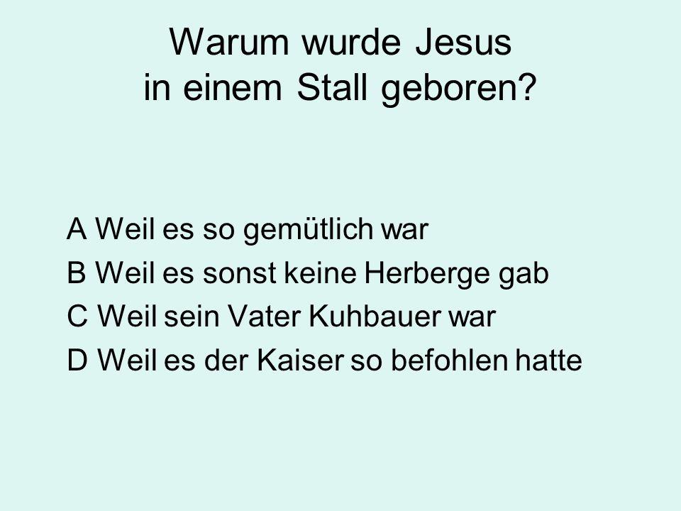 Warum wurde Jesus in einem Stall geboren.