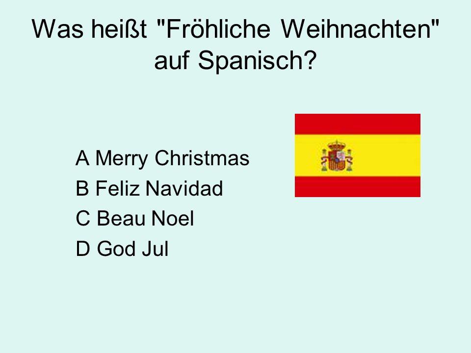 Was heißt Fröhliche Weihnachten auf Spanisch.