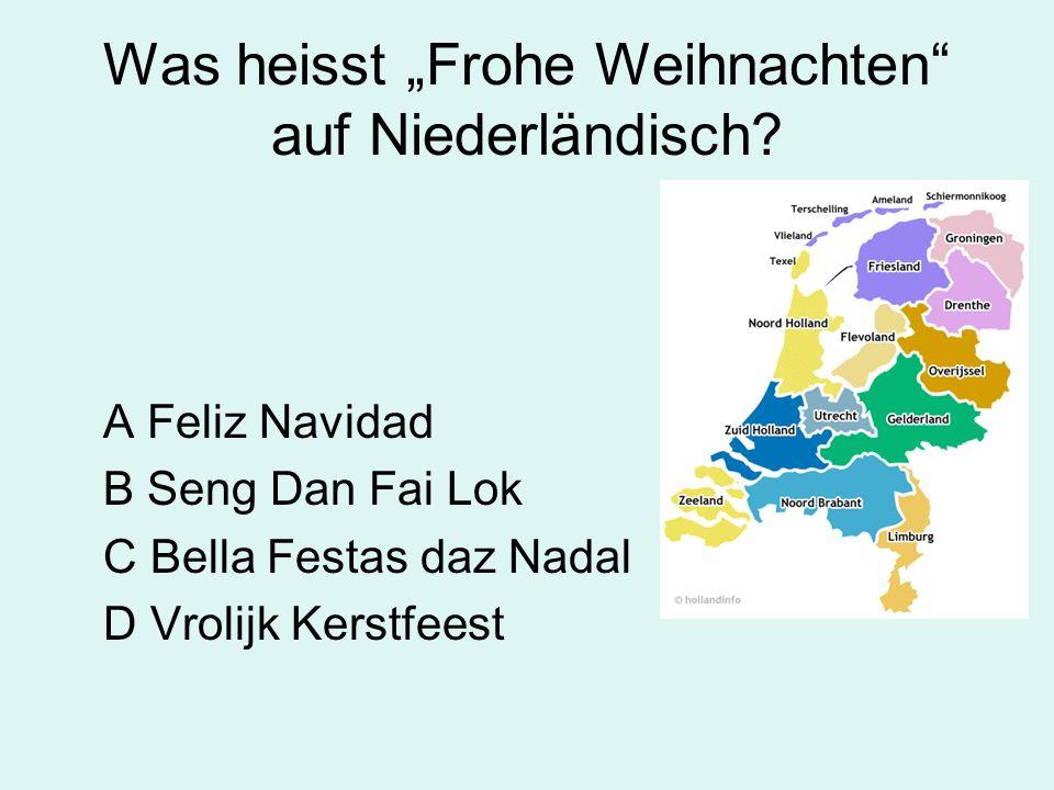 Was heisst Frohe Weihnachten auf Niederländisch.