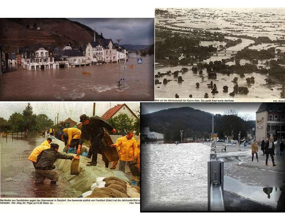 Durch Hochwasserschutzmaßnahmen wird die Schadenserwartung herabgesetzt.