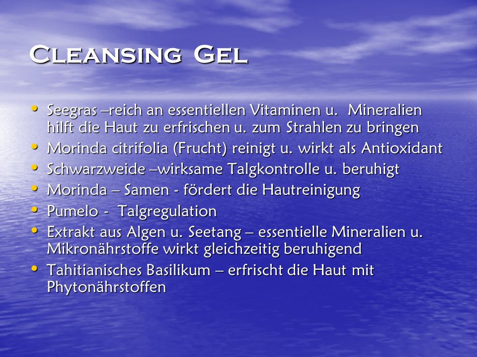 Cleansing Gel Seegras –reich an essentiellen Vitaminen u.