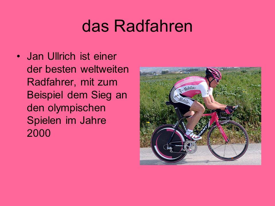 das Radfahren Jan Ullrich ist einer der besten weltweiten Radfahrer, mit zum Beispiel dem Sieg an den olympischen Spielen im Jahre 2000
