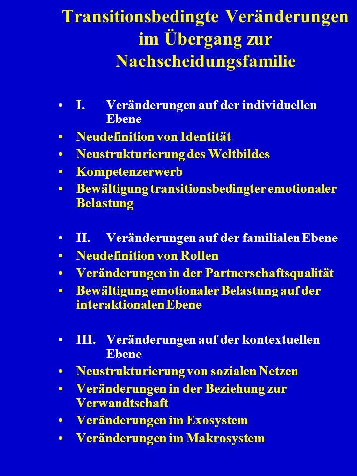 I.Veränderungen auf der individuellen Ebene Neudefinition von Identität Neustrukturierung des Weltbildes Kompetenzerwerb Bewältigung transitionsbeding