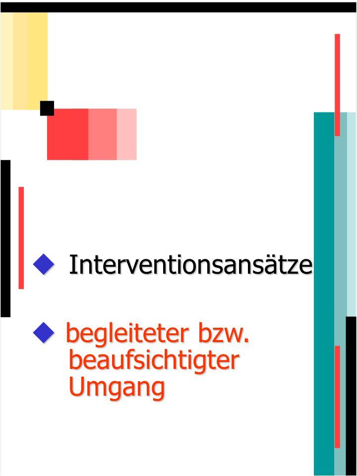 Interventionsansätze Interventionsansätze begleiteter bzw. beaufsichtigter Umgang begleiteter bzw. beaufsichtigter Umgang