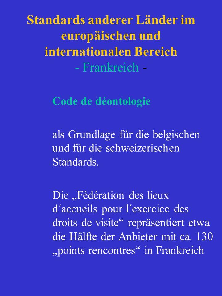 Standards anderer Länder im europäischen und internationalen Bereich - Frankreich - Code de déontologie als Grundlage für die belgischen und für die s