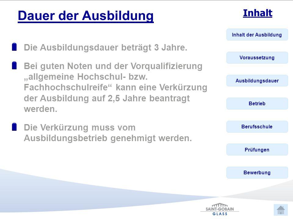 Inhalt der Ausbildung Voraussetzung Ausbildungsdauer Betrieb Berufsschule Prüfungen Bewerbung Inhalt Betrieb Das Werk in Mannheim wurde 1853 gegründet.