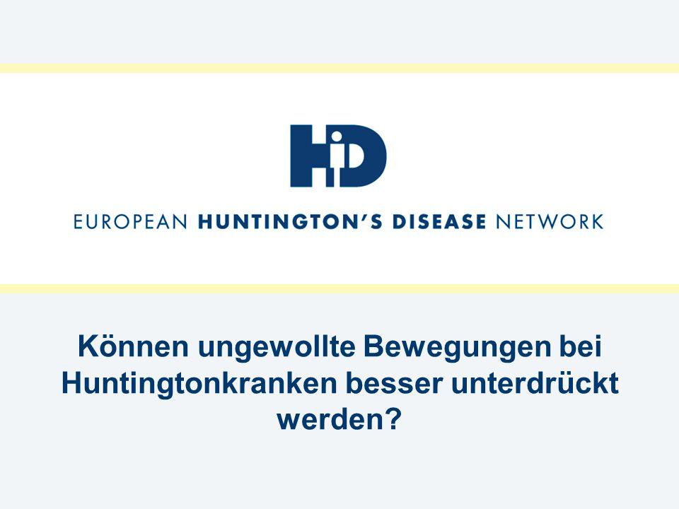 Können ungewollte Bewegungen bei Huntingtonkranken besser unterdrückt werden?