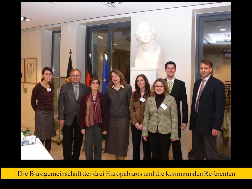 Die Bürogemeinschaft der drei Europabüros und die kommunalen Referenten