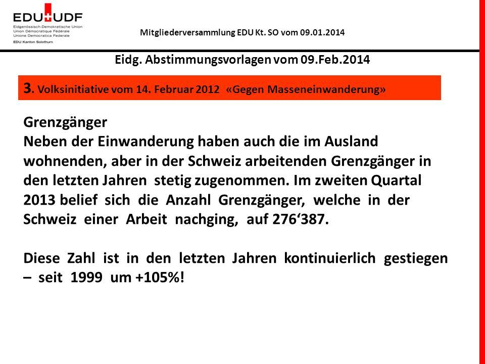 Mitgliederversammlung EDU Kt. SO vom 09.01.2014 Eidg.