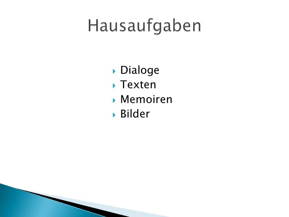 Dialoge Texten Memoiren Bilder
