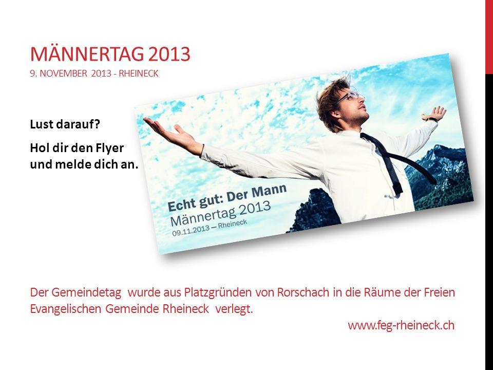 Der Gemeindetag wurde aus Platzgründen von Rorschach in die Räume der Freien Evangelischen Gemeinde Rheineck verlegt.