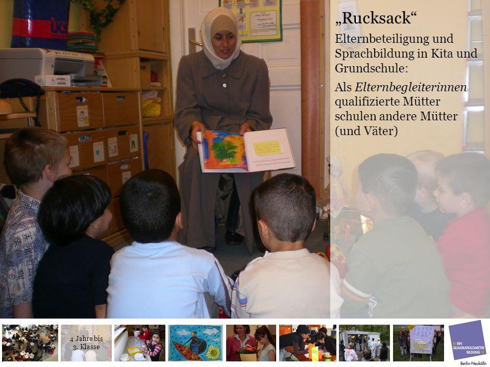 Rucksack Elternbeteiligung und Sprachbildung in Kita und Grundschule: Als Elternbegleiterinnen qualifizierte Mütter schulen andere Mütter (und Väter)