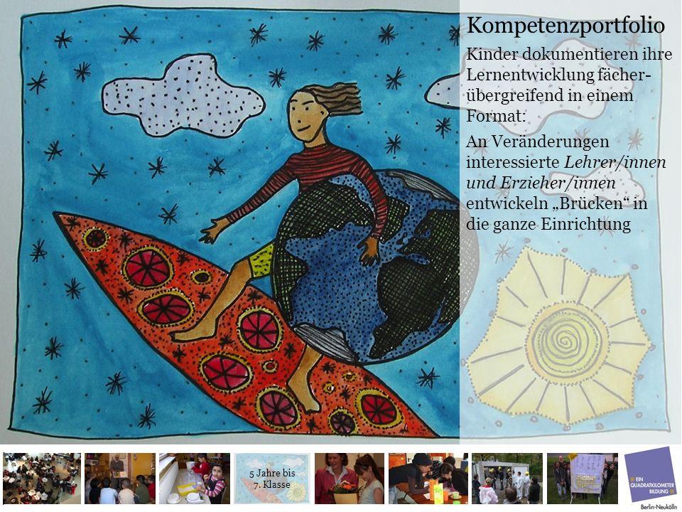 Kompetenzportfolio Kinder dokumentieren ihre Lernentwicklung fächer- übergreifend in einem Format: An Veränderungen interessierte Lehrer/innen und Erz