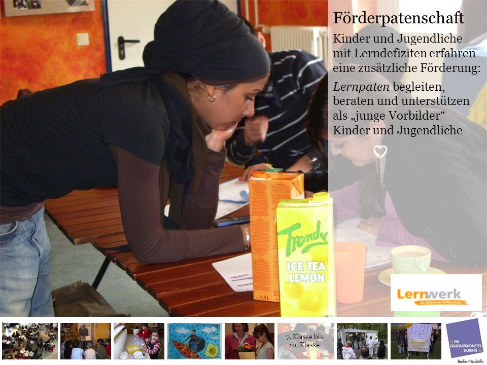 Förderpatenschaft Kinder und Jugendliche mit Lerndefiziten erfahren eine zusätzliche Förderung: Lernpaten begleiten, beraten und unterstützen als jung