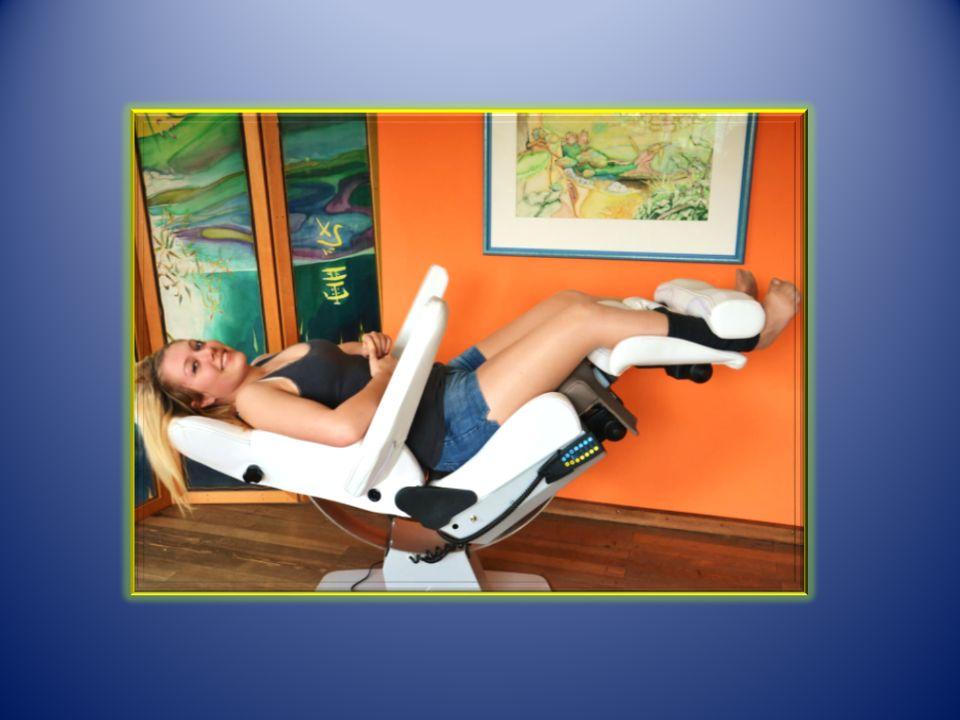 Hauptfunktionen X-ten Sanfte Bewegung der Gelenke Lösen von Druck und Verspannung Dehnung und Entspannung der Muskeln Passives Öffnen der Gelenke Entspannung pur durch integriertes Magnetfeld mit Heizung und Luftkammerwellenmassage Steuerung über mobiles Bedienelement