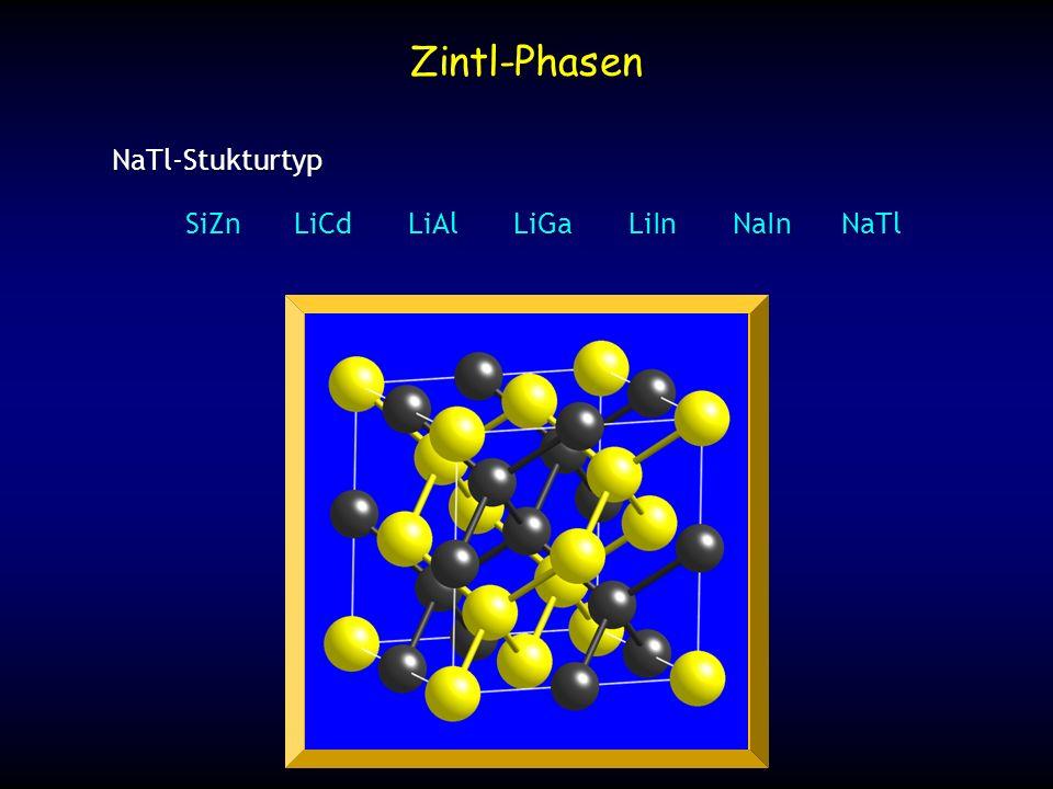 NaTl-Stukturtyp NaTl-Stukturtyp SiZnLiCdLiAlLiGaLiInNaInNaTl Zintl-Phasen