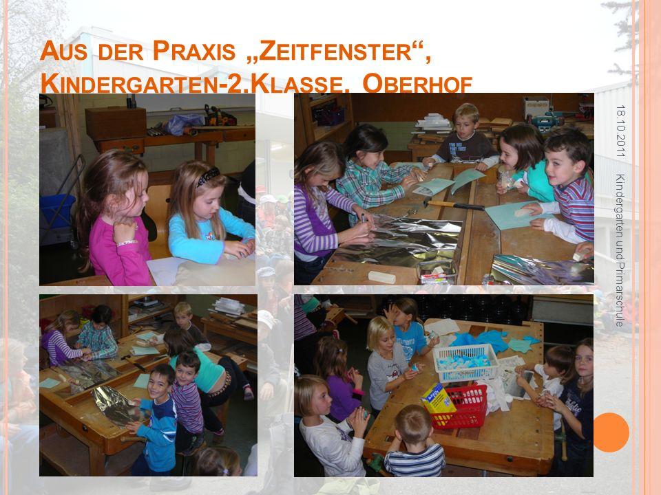 U MSETZUNG : W AS BISHER GESCHAH 18.10.2011 Kindergarten und Primarschule