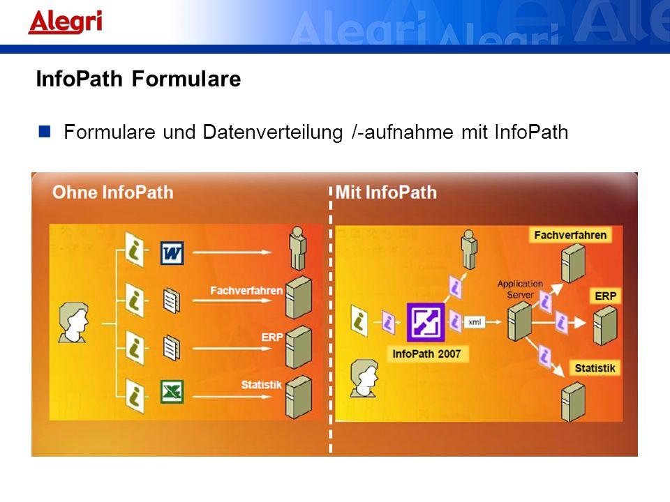 Formulare und Datenverteilung /-aufnahme mit InfoPath