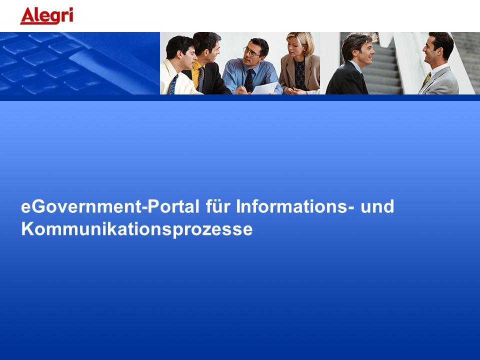eGovernment-Portal für Informations- und Kommunikationsprozesse